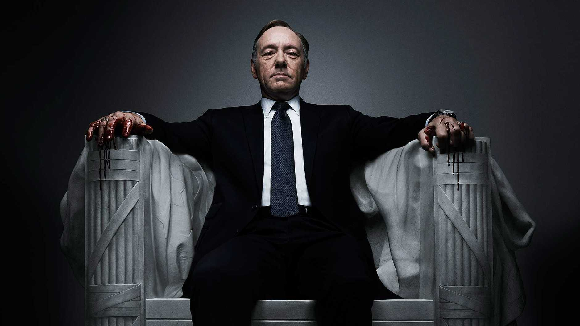 Kevin Spacey in the internet session House of Cards