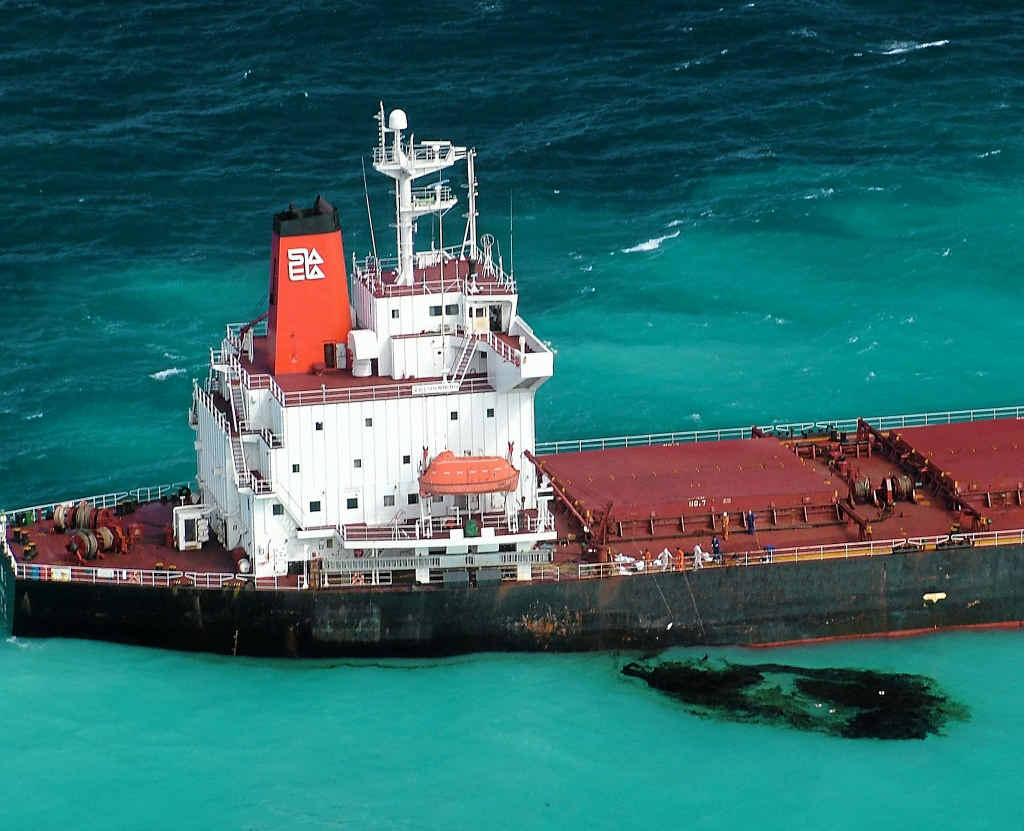 The Shen Neng 1 ran aground on Douglas Shoal on April 3, 2010, causing an oil spill.
