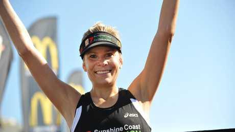 Roxie Fraser wins the women's race at the Sunshine Coast Marathon 2013. Photo: Iain Curry / Sunshine Coast Daily