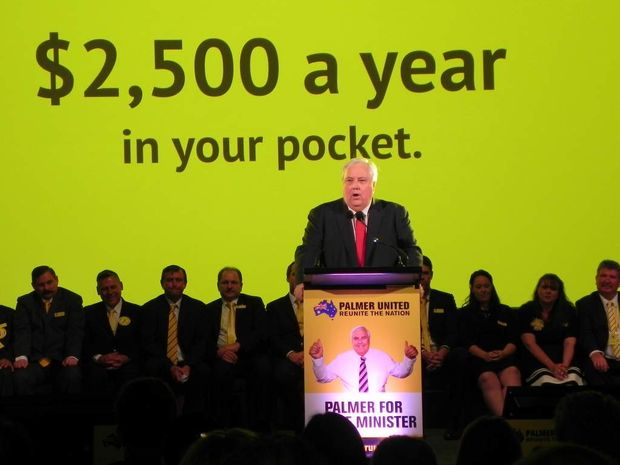 Clive Palmer at a recent campaign launch