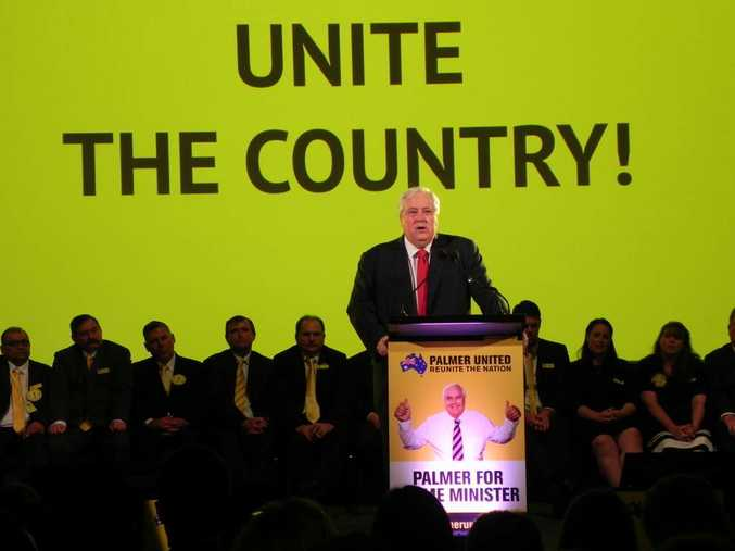 Palmer United Party campaign launch on the Sunshine Coast.