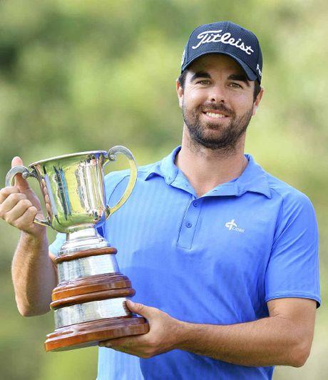 GREAT FEELING: Isuzu Queensland Open winner Nick Cullen.