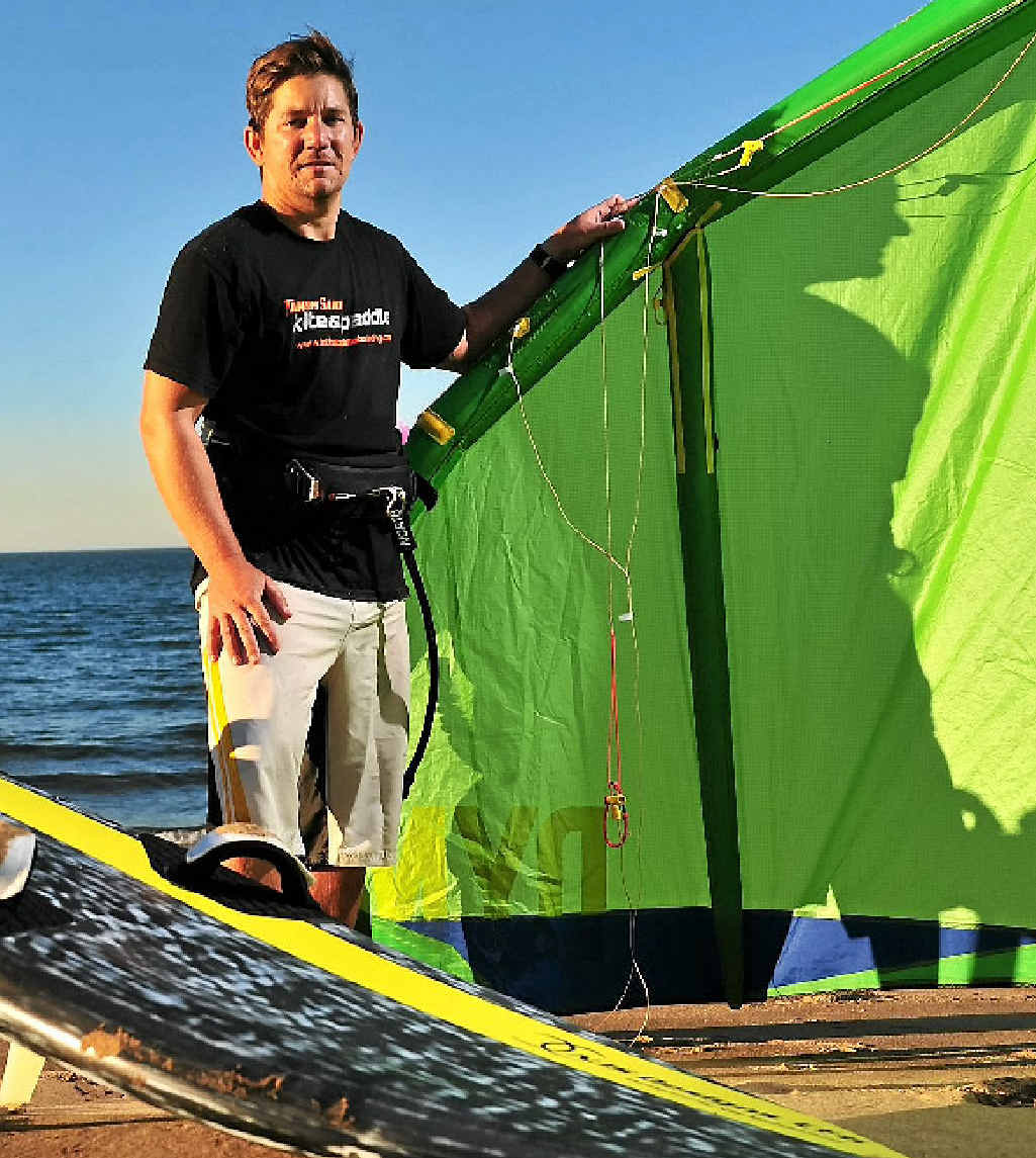 Josh Young is a kite surfing instructor and thinks it's one of the best jobs.