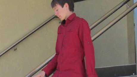 Robert Joseph Colby leaves court yesterday.
