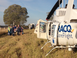 Man airlifted after rolling quad-bike