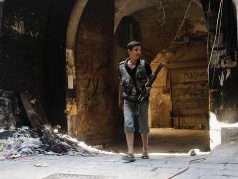 A young fighter in Aleppo