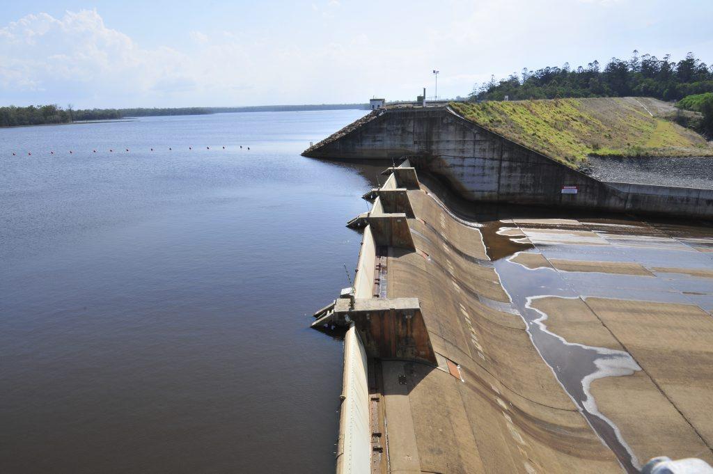 Lenthalls Dam flood gates.