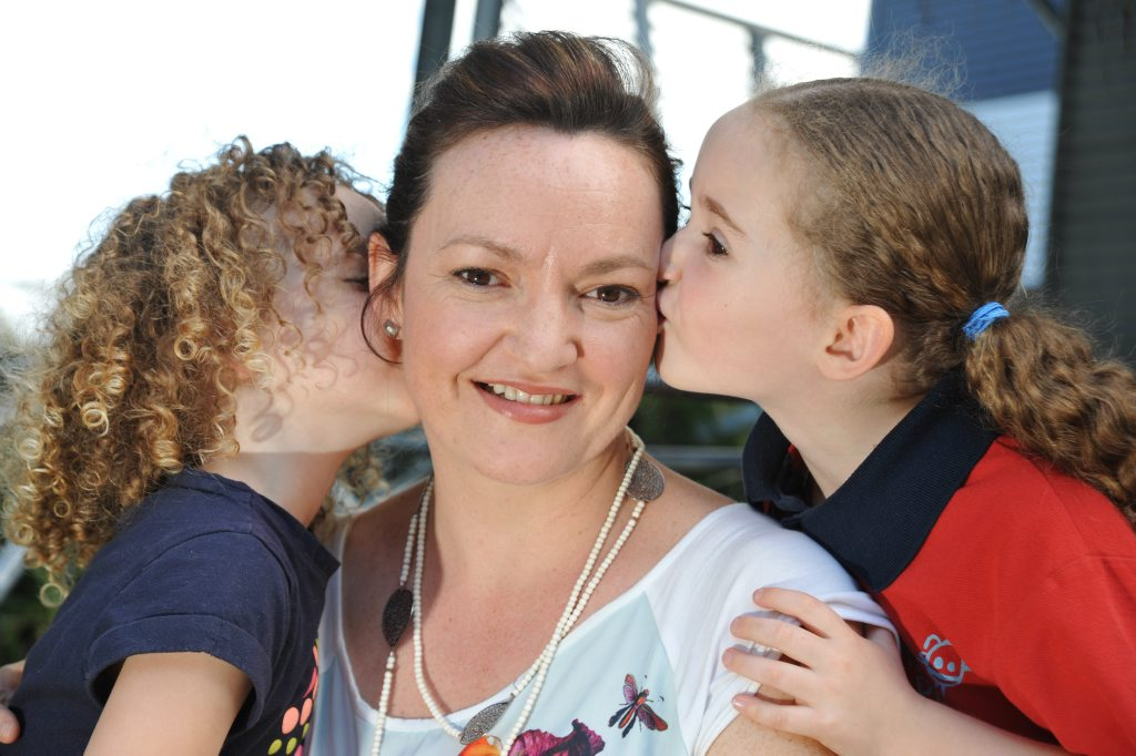 Cath Knijnenburg from Ninderry, with daughters Amy, 5, and Pippa, 3, believes explaining to young kids about emotions helps them as they grow older.