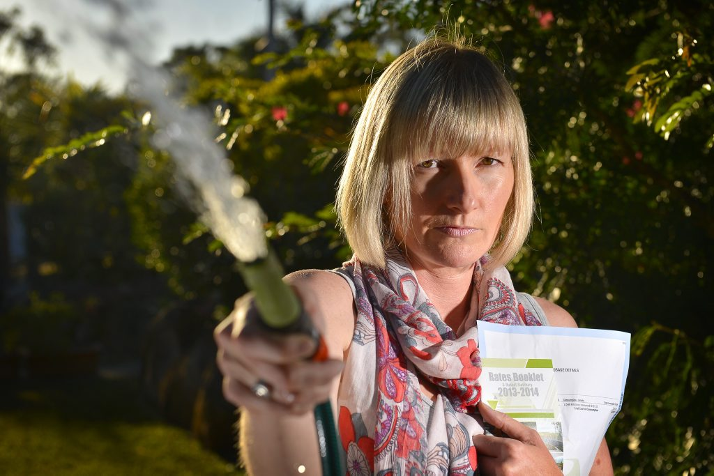 Ali Webster has a $4000 rates after council failed to tell her a pipe was leaking.