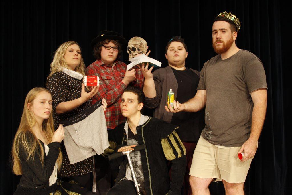Marita McVeigh, Jane Hultgren, Harry Paroz, Brodie Greenhalgh, Deanna Steffens and Trevor Vanstone will take on all 37 Shakespeare plays in 97 minutes. Photo Contributed