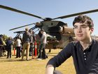 Duncan Broadbent wants to be a pilot. He got a taste of the army life at the Army Aviation careers day at Queens Park.