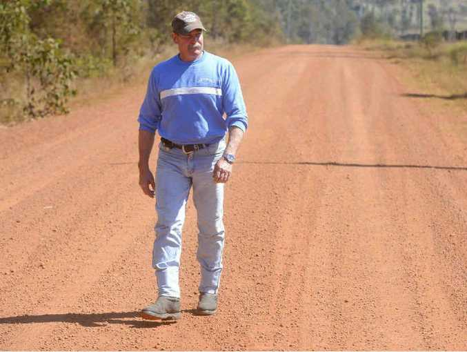 FED UP: Steve Meredith is fed up with the state of Dinjerra Rd. Photo: Adam Hourigan