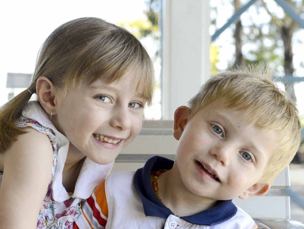 Ashley Higgins, 2, pictured with sister Felicity, 4, has undergone multiple operations.