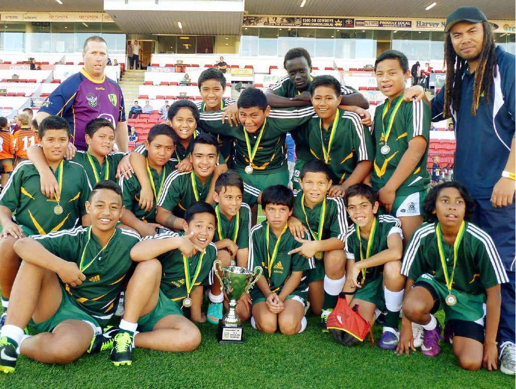 WINNING SIDE: Kruger State School's senior boys claimed the 2013 NRL Development Cup (Queensland).