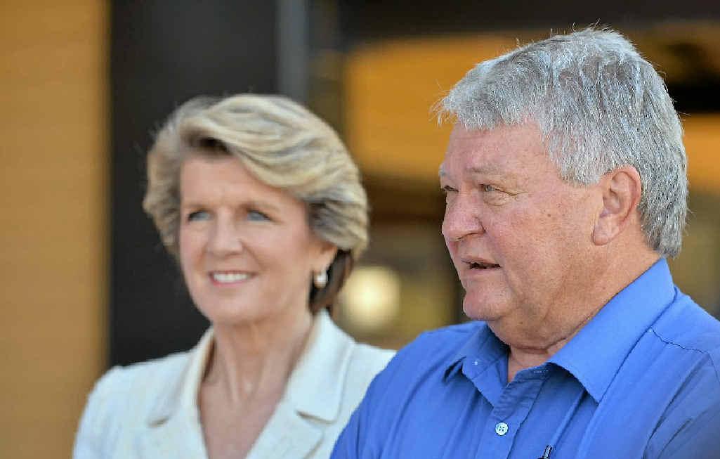 Deputy opposition leader Julie Bishop joined Flynn MP Ken O'Dowd to announce sport club funding.
