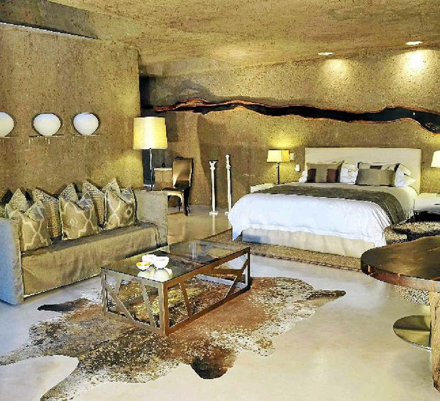 Vast-sized guest suite at Sabi Sabi Private Game Reserve.