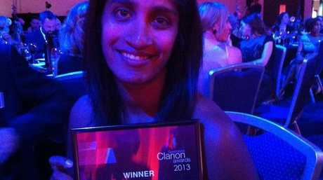 Vani Naidoo wins regional feature at the 2013 Clarion Awards.