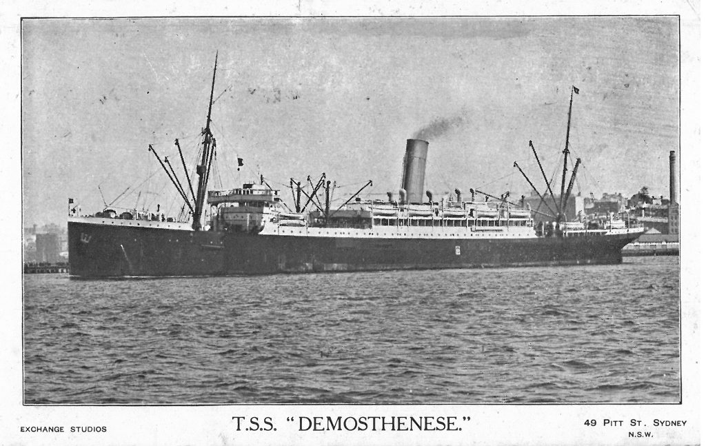 WARTIME MEMORIES: Fred Hampson travelled to Europe on the T.S.S. Demosthenese. Photo: contributed