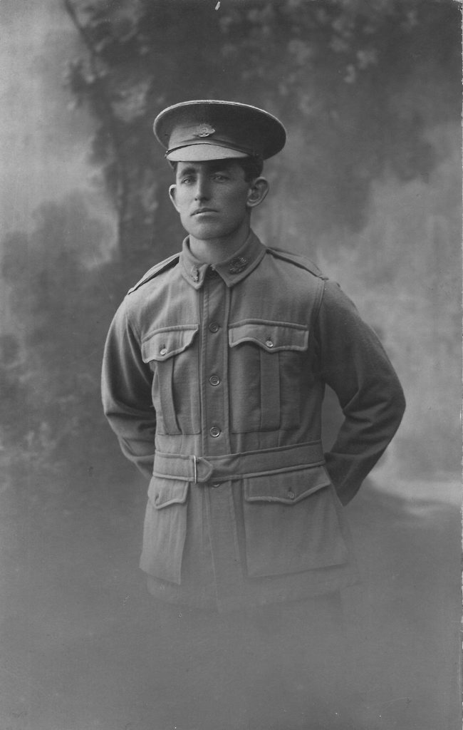 WARTIME MEMORIES: Digger Fred Hampson in uniform before he was killed in France in 1917. Photo: contributed