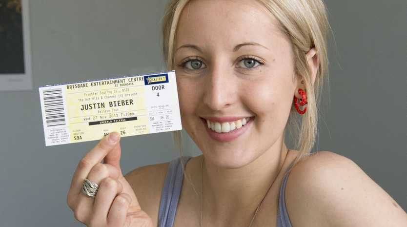 Laura Harrigan hopes to meet her idol Justin Bieber during his November concert.