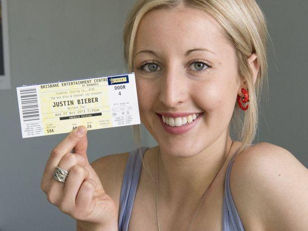 Laura Harrigan hopes to meet her idol Justin Bieber during his November concert.