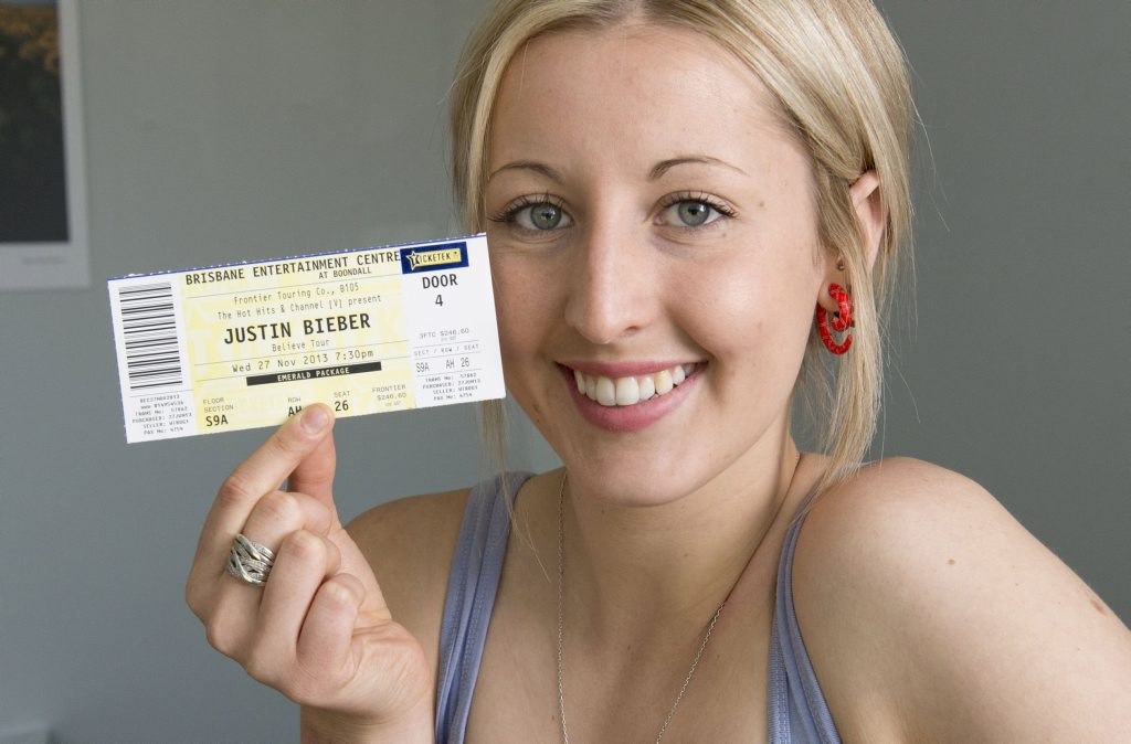 Image for sale: Laura Harrigan hopes to meet her idol Justin Bieber during his November concert.