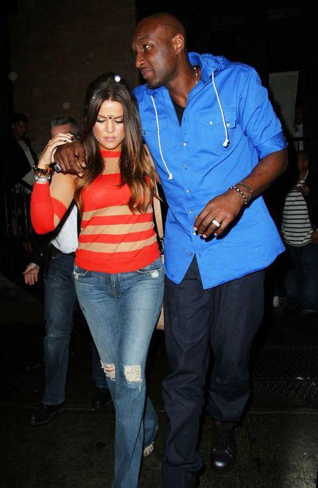 Khloe Kardashian and Lamar Odom.