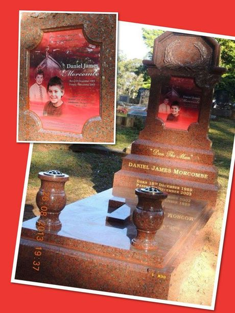Daniel Morcombe's headstone.