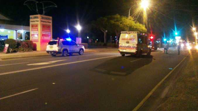 A man crossing the road was hit by a car at Leisure Dr, Banora Point.