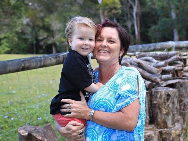 Renee Smith with her 'miracle baby', Ben. Renee believes that going to a retreat helped her to fall pregnant.