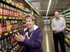 Hill St Foods IGA manager Rhonda Loweke and owner Steve Michel look forward to the store's opening on Saturday. Photo Nev Madsen / The Chronicle