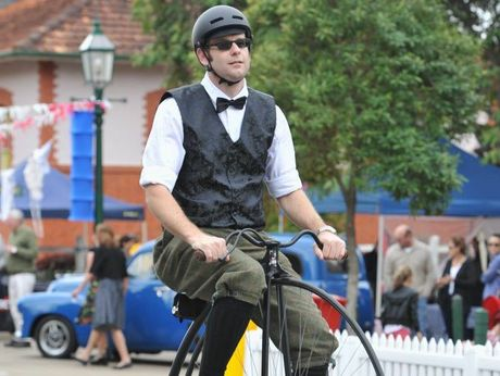 Cyclists will dress in period costume and ride old bikes, such as penny farthings, to celebrate Hervey Bay's 150th anniversary.