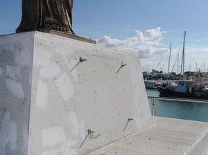 Mayor disgusted by St Peter's memorial statue vandalism