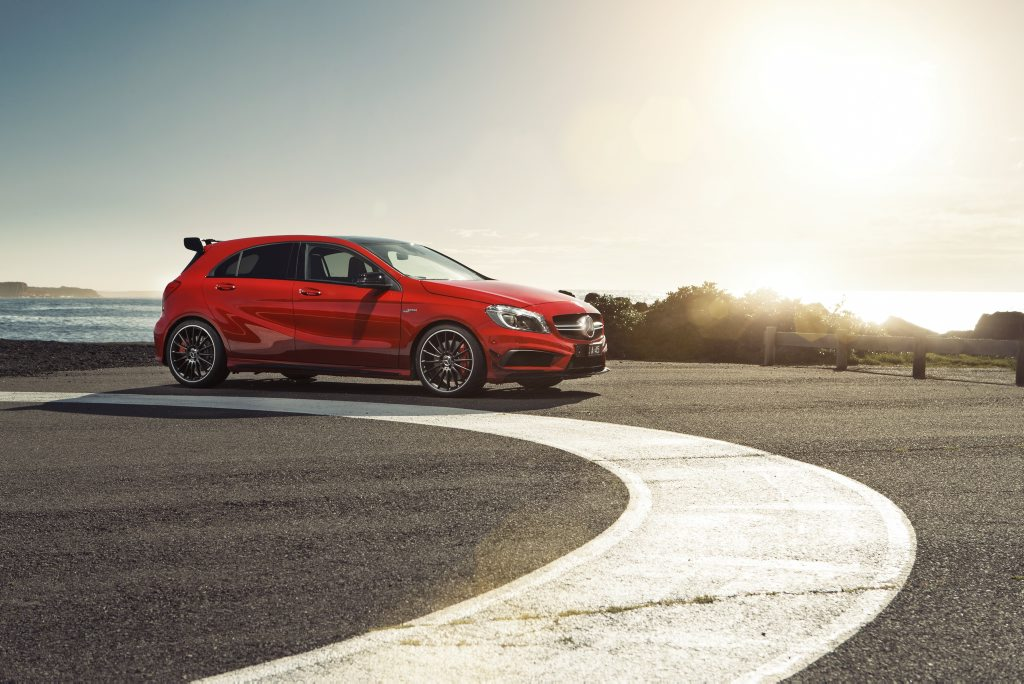 The Mercedes-Benz A45 AMG is simply breathtaking.