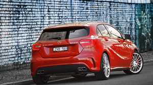 The A45 AMG hatch.