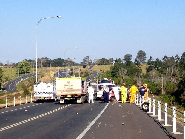 Emergency double fatality on the Bruxner Highway at Wollongbar.