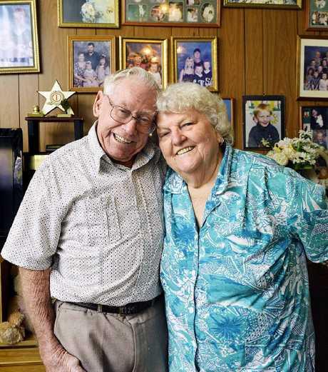 SIX DECADES: Ken and Nancye Franklin celebrate their 60th wedding anniversary.