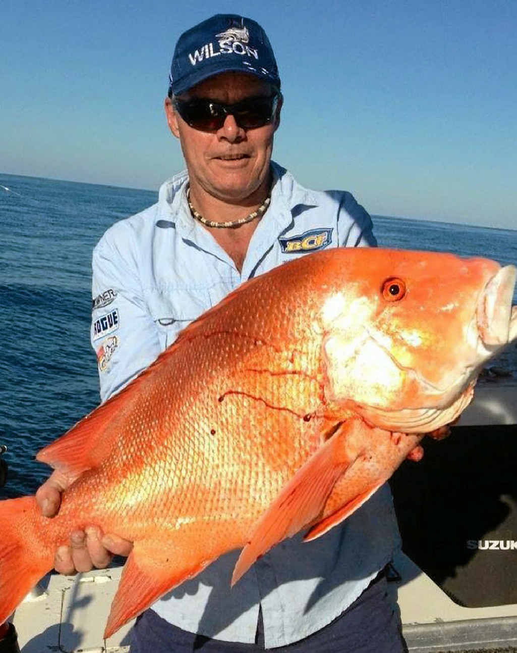 Barry Homeyard with a solid red caught recently.