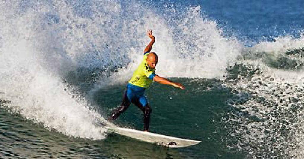 Champion surfer Kelly Slater.