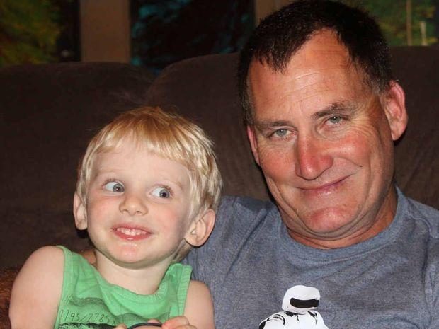 SUPERDAD (and grandad): Warren Toy with his grandson Seth.