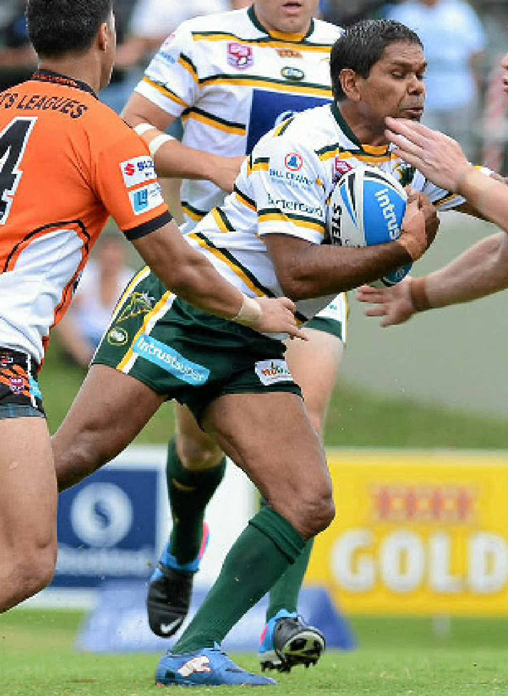 SIMPLE FORMULA: Brendon Marshall in action for the Ipswich Jets.
