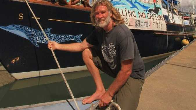 Migaloo 2 skipper Dean Jefferys will give talks and show a number of films focused around marine conservation issues on Friday.
