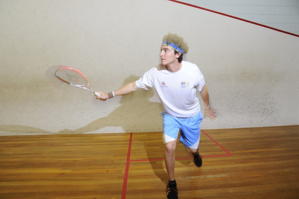 Image for sale: Australian nunber one squash player Cameron Pilley. Photo JoJo Newby / The Daily Examiner