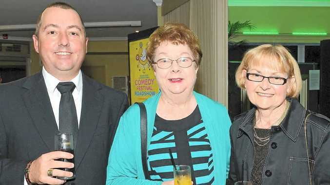 PARTY TIME: Peter Readman, Kathleen Readman and Robyn Stower at Sundale Nursing Home's 50th anniversary celebrations at the Nambour Civic Centre.