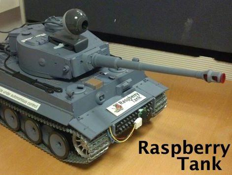 Raspberry Pi-powered RC Tank
