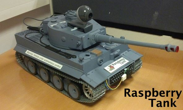 Raspberry Pi-powered RC Tank