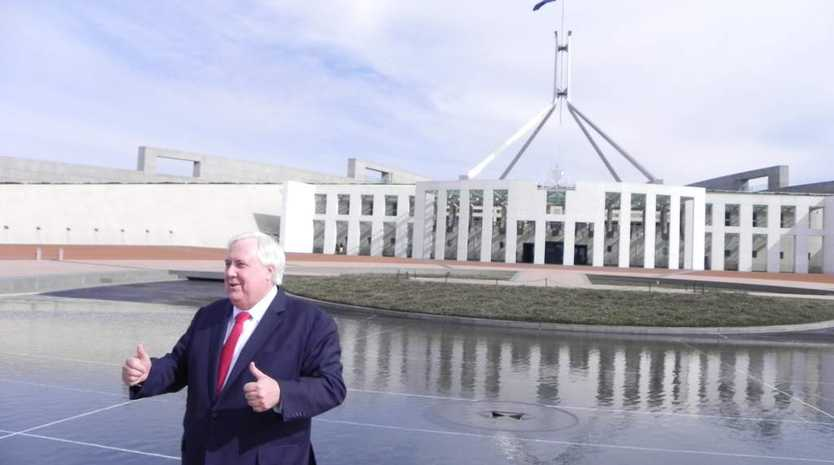 Clive Palmer on the campaign trail.