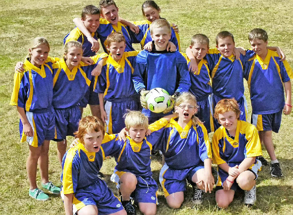 Plenty to smile about for the Blakebrook Public School football team. The mixed side is one match away from reaching the final stages of the statewide PSSA small schools' competition.