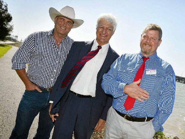 James Blundell, Bob Katter MP and Richard Love were in Gladstone on September 2.