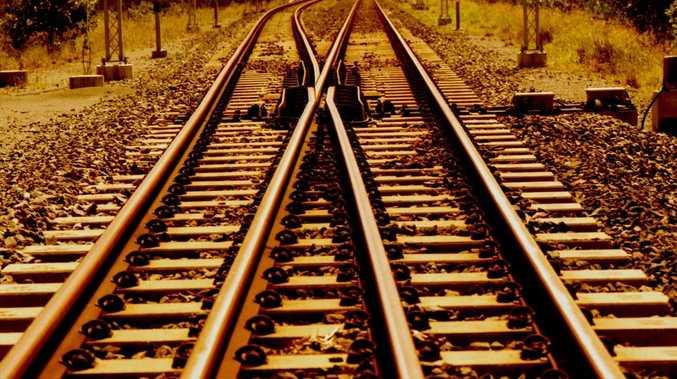 Queensland Rail tracks.